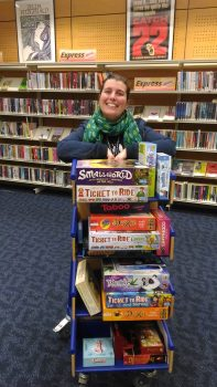 Library Staff with Boardgames