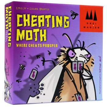 "Photo of the box for the card game ""Cheating Moth"""